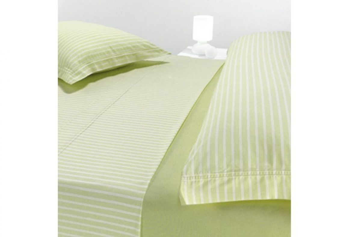 Encimera Cotton Rayas Anchas Verdes