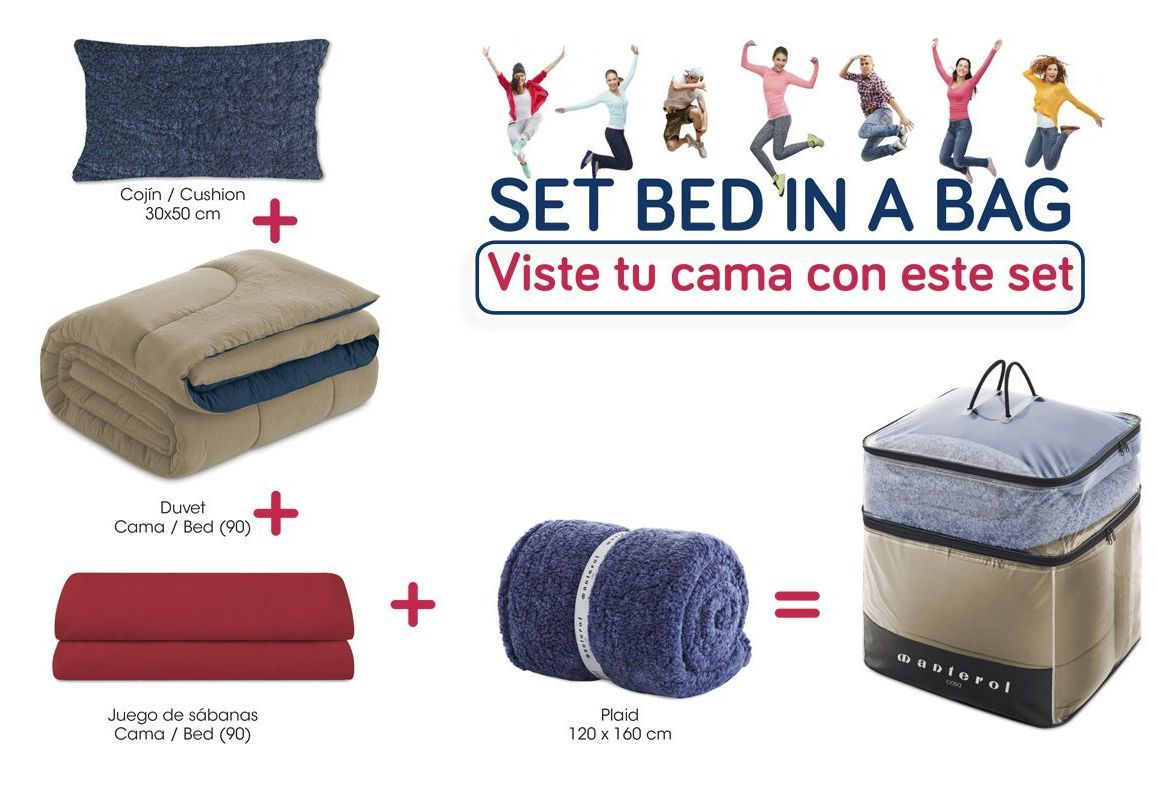 Set de cama Juvenil Bed in a Bag Camel/Azul