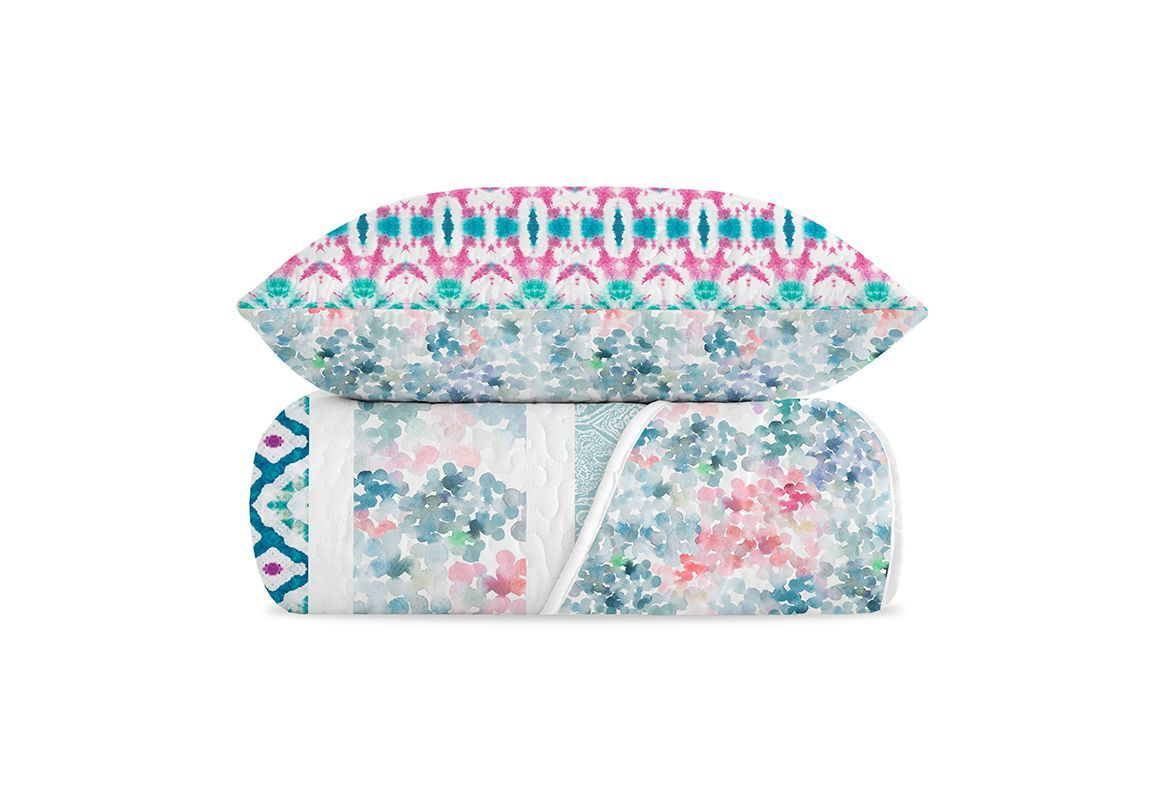 COLCHA BOUTI REVERSIBLE ESTAMPADO FRESCO