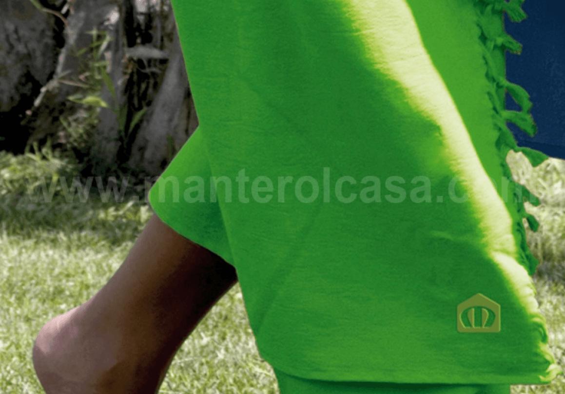 Toalla Pareo Verde Lima   Manterol Casa