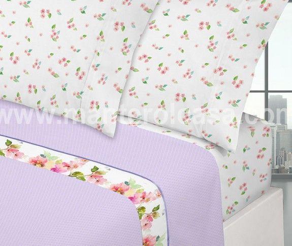 juego de sábanas florales