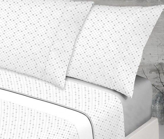 juego de sábanas gris
