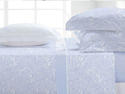 JS Coralina Velvet Hojas Azul